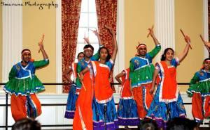 "Padma Tipparaju/For The Bloc~EntouRAAS performs ""Raas-Garba,"" a genre originating from Gujarat, India."