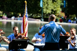 The USAF Strings ensemble travels the country playing free concerts. (Charles Mitchell/Bloc Photographer)