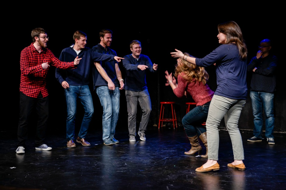 People Like Us, one of the many Washington Theater Improv groups, puts on a show. (Photo courtesy of Darian Glover/WIT)