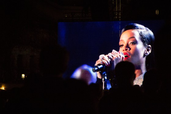 The event aired on HBO and hosted a variety of performers including Rihanna, Bruce Springsteen, Dave Grohl and Eminem. Meryl Streep, John Oliver, Jack Black and Tom Hanks also made appearances. (Trey Sherman/Bloc Reporter)