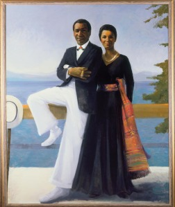 """Portrait of Bill and Camille Cosby"" by Simmie Knox. (Courtesy of the National Museum of African Art, Smithsonian Institution)"