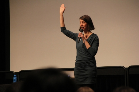 Dorian Solot addresses the audience for the first time. (Trey Sherman/Bloc Reporter)