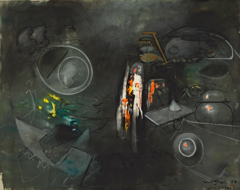 """Roberto Matta's """"Nuit Corve"""" is a prime example of the stunningly modernist work presented in the Cosmos section of the exhibit. (Image courtesy of Taras Matla/Collection OAS AMA 