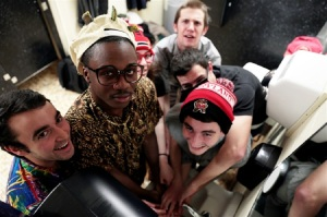 Featured is (from left to right) Adam Goldberg, Kofie Yeboah, Deena Rosenblatt, Sam Cunningham, Cameron Neimand and Jake Britton. Campus Solutions' YouTube page, which is less than a month old, has about 45 subscribers and more than 10,000 views. (Jacob Pargament/Bloc Reporter)