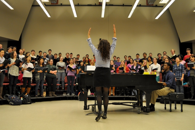 The UMD Concert Choir will combine voices with the Children's Chorus of Washington to provide a mix of background vocals. (Julia Keane/For The Bloc)