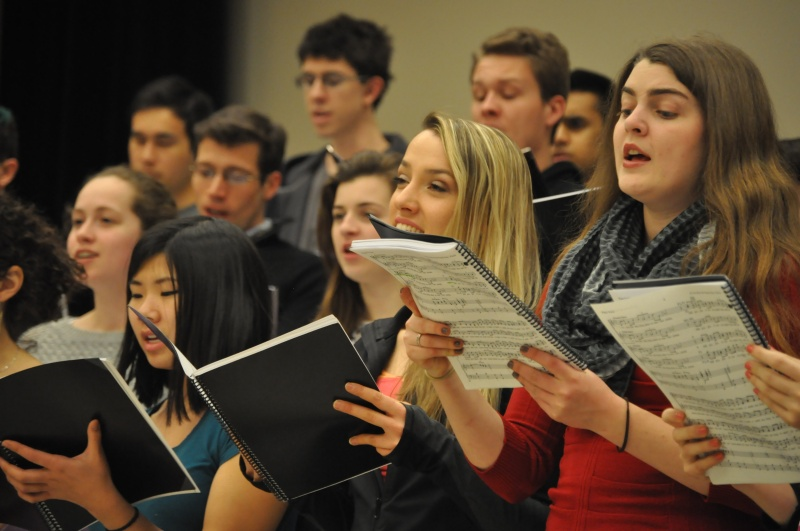 This is the first time the men's and women's choirs have been able to perform in a professional gig, according to Hoff. (Julia Keane/For The Bloc)