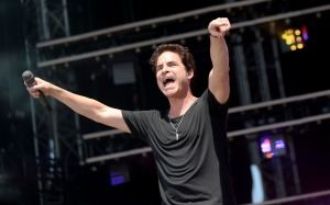 WASHINGTON, D.C., - APRIL 18: Patrick Monahan of Train performs during Global Citizen 2015 Earth Day on the National Mall on April 18, 2015 in Washington, DC. (Photo by Olivier Douliery/WireImage)