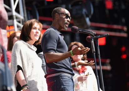 WASHINGTON, D.C., - APRIL 18: Actor Don Cheadle speaks onstage during Global Citizen 2015 Earth Day on National Mall to end extreme poverty and solve climate change on April 18, 2015 in Washington, DC. (Photo by Noam Galai/Getty Images for Global Citizen)