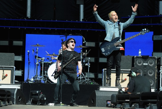 WASHINGTON, D.C., - APRIL 18: Musicians Patrick Stump and Peter Wentz of Fall Out Boy perform onstage during Global Citizen 2015 Earth Day on National Mall to end extreme poverty and solve climate change on April 18, 2015 in Washington, DC. (Photo by Richard Chapin Downs Jr./Getty Images for Global Citizen)