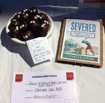 """A much lighter take on the subject matter of """"Severed"""" by Frances Larson comes in the form of Katherine Ayerst's Chocolate Cake Ball heads. (Jack Angelo/Bloc Reporter)"""
