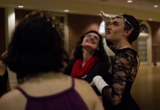 Some students show up in drag for this year's Pride Prom held in the Stamp's Atrium.  (Samantha Pitkin/For the Bloc)