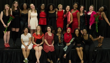 Featured is the cast of The Vagina Monologues UMD 2015. (Ryan Eskalis/Bloc Reporter)
