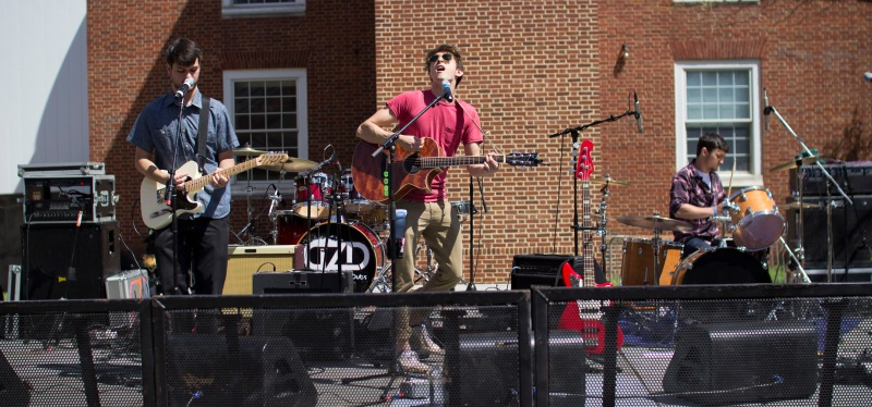 Talk Radio, a band comprised of students, performs at Terpstock 2015. (Ryan Eskalis/Bloc Reporter)