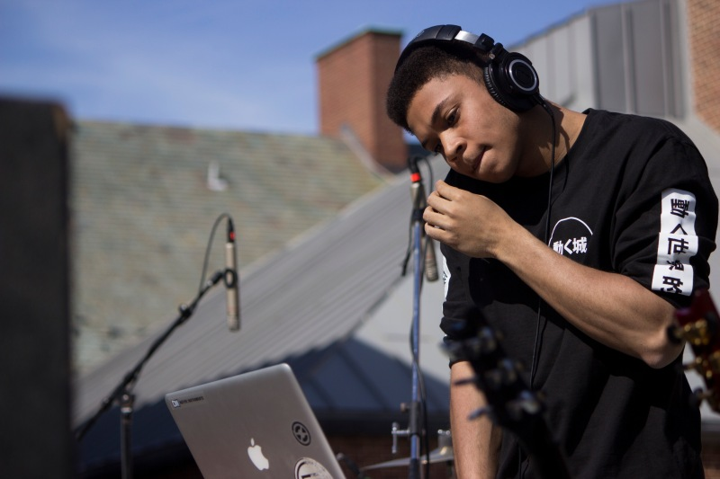 Chris McClenney, a senior music major, performs as the opening headliner at Terpstock 2015. McClenney is also part of the Los Angeles-based record label Soulection. (Ryan Eskalis/Bloc Reporter)