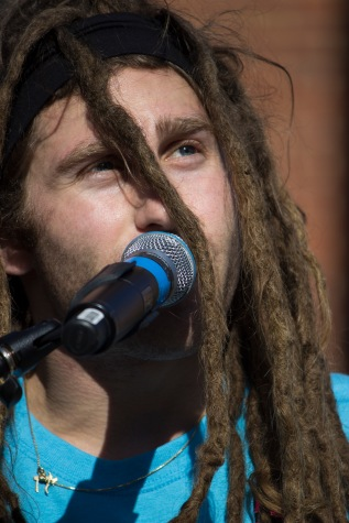 Dale Rodman, the lead frontman for Dale and the ZDubs, sings at this year's Terpstock. (Ryan Eskalis/Bloc Reporter)