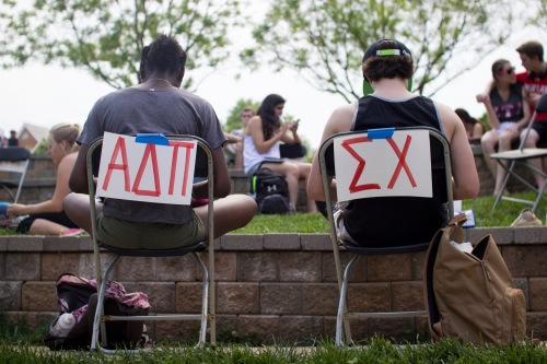 More than 600 students from Greek life attended Sit Down to Stand Up. (Ryan Eskalis/Bloc Reporter)