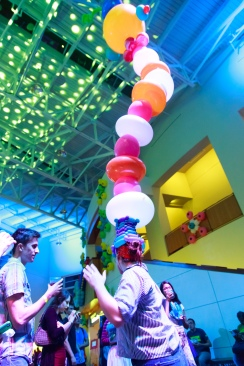 NextNOW featured eccentric events, including kooky balloon creations for headwear. (Jeff Fitzgerald/For The Bloc)