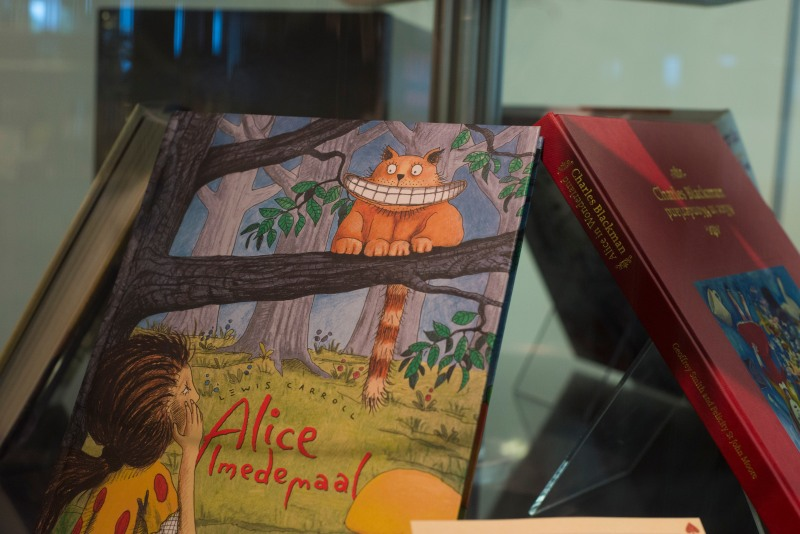 Alice in Wonderland art inside of Hornbake Library. (Josh Loock/Bloc Reporter)