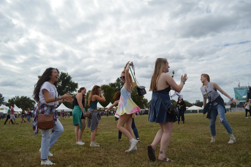 Featured are a group of festival attendees who took a moment to dance during various sets. (Iman Smith/Editor-in-chief)