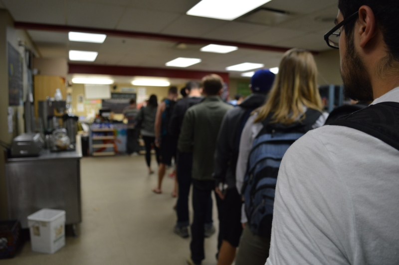 The Co-Op often sees lines out the door during their lunch rush. (Cassie Osvatics/Bloc Reporter)