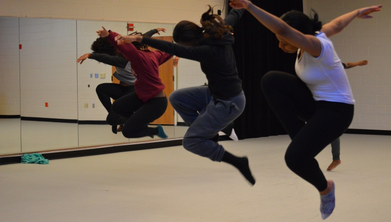 UMD dance group, Prima Dolls, rehearsing their latest routine. (Cassie Osvatics/Writer's Bloc Reporter)