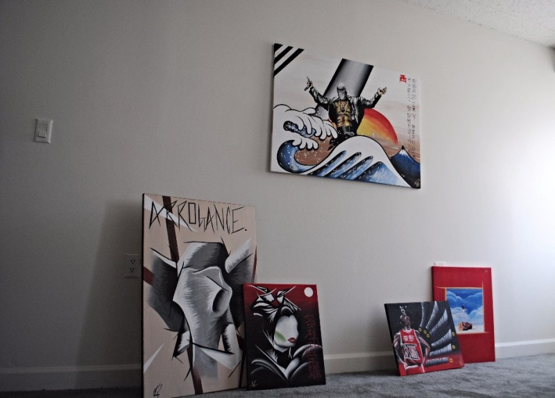 Pictured are some of Gentry's selected works. (Naomi Harris/Bloc Reporter)