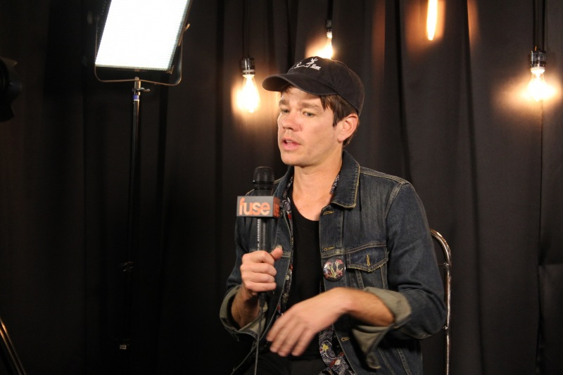 Singer and songwriter, Nate Ruess during an interview with Fuse after his performance at Landmark Music Festival on Saturday. Nate is also the lead singer of FUN. and previously The Format. (Cassie Osvatics/Bloc Reporter)