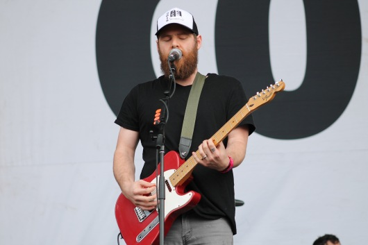 Andy Hull, lead singer and guitarist of Manchester Orchestra during their performance Sunday on the Jefferson stage at Landmark Music Festival. (Cassie Osvatics/Bloc Reporter)