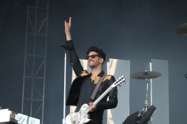David Macklovitch of Canadian duo Chromeo during their performance on the Miller Lite stage at Landmark Music Festival on Sunday. (Cassie Osvatics/Bloc Reporter)