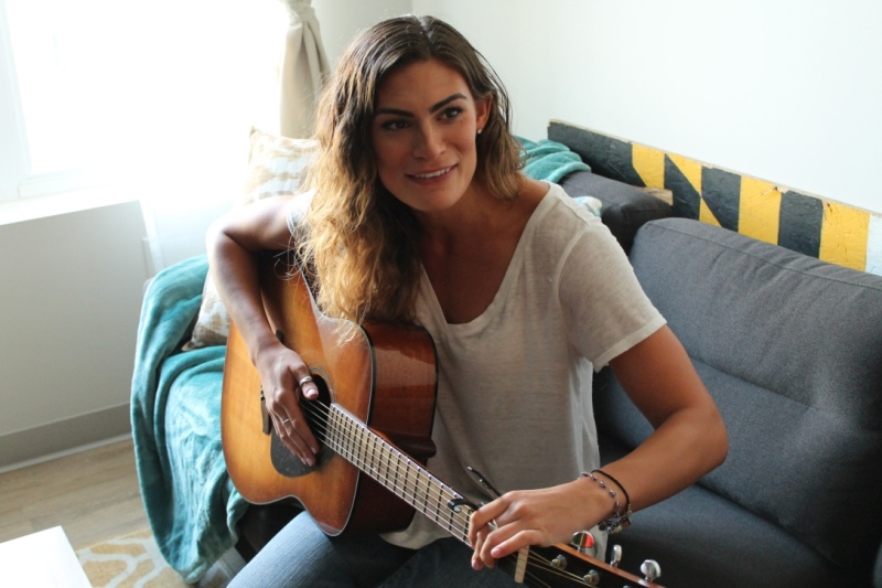 Cimino also has an interest in music singer and guitar player. (Cassie Osvatics/Writer's Bloc Reporter)