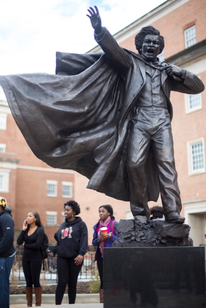 Featured is the Douglass statue. (Ryan Eskalis/For The Bloc)