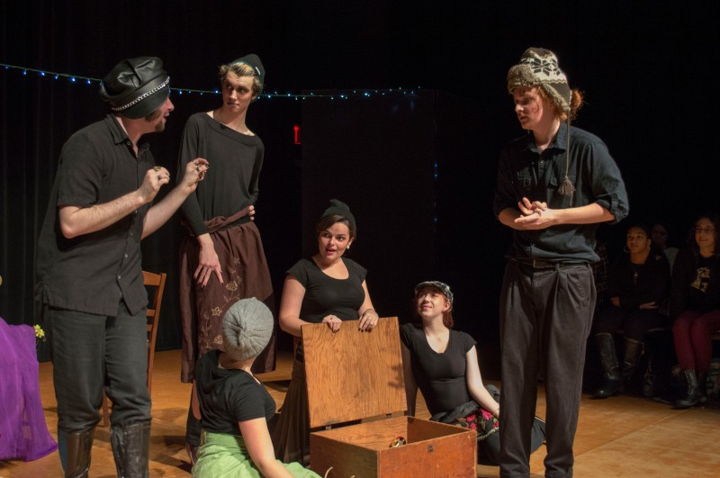 "Maryland Shakespeare Players performed an adaption of ""A Midsummer Night's Dream"" in the Cafritz Foundation Theatre of the Clarice. The play was performed in the style of Glasgow Citizen Theatre's Queer Shakespeare. (Cassie Osvatics/Bloc Reporter)"