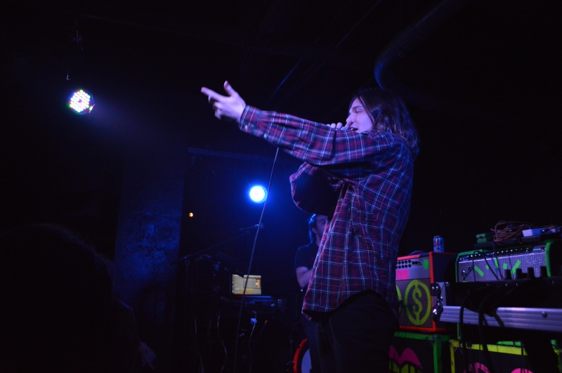 Australian rapper, Allday, during his energetic performance at U Street Music Hall. This his first U.S. tour. (Cassie Osvatics/Bloc Reporter)
