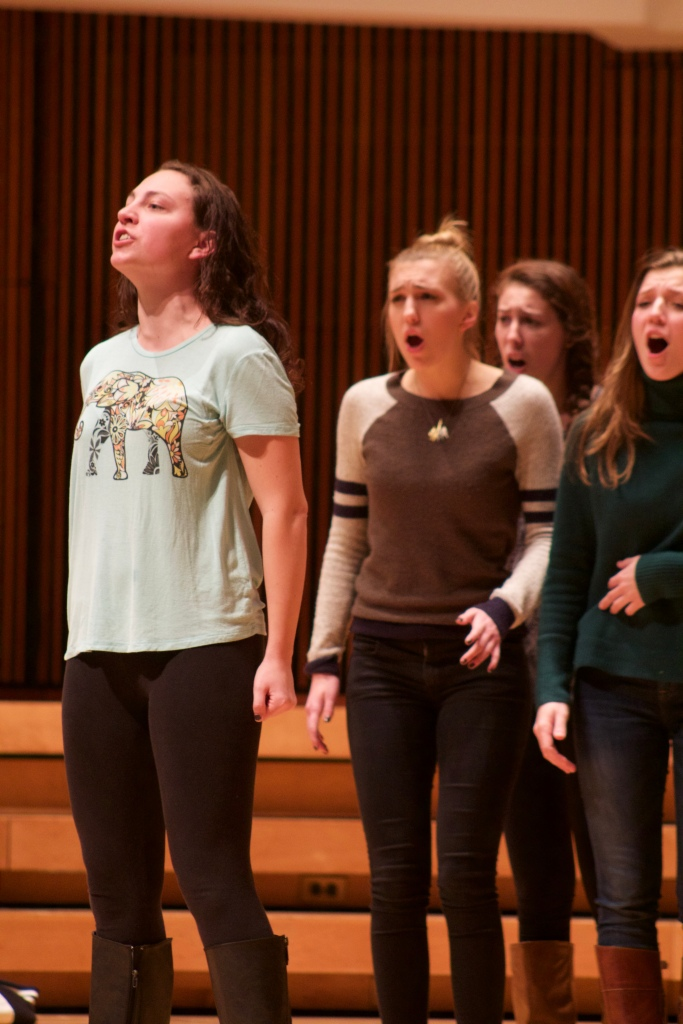 Featured are the UMD Treblemakers, an all girls a cappella group. (Julia Lerner/Bloc Reporter)