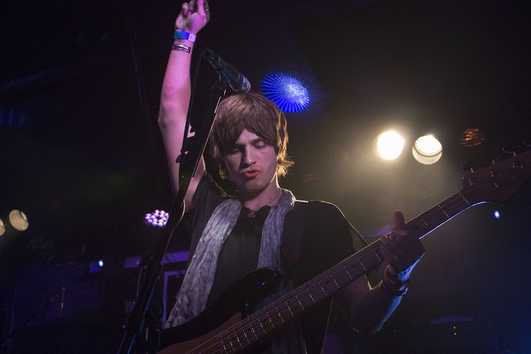 Bassist of The Struts, Jed Elliott, performing at Rock and Roll Hotel. (Cassie Osvatics/Bloc Reporter)