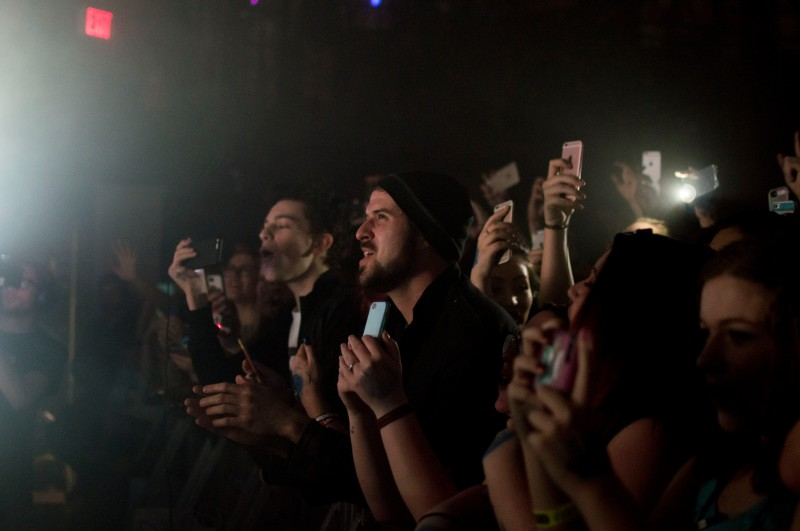 Attendees at Australian singer, songwriter, Troye Sivan's performance at 9:30 Club. Troye kept the crowd moving with his emotional lyrics and energetic stage presence. (Cassie Osvatics/Bloc Reporter)