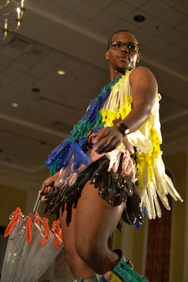 Izzy Bell (Senior, Community Health), striking a pose for the judges. (Joe Duffy/Bloc  Reporter)