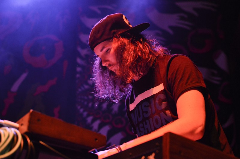 Darren Will keyboard and synth for MOTHXR. Will hopes that their music will spark something in their audience and listeners. (Cassie Osvatics/Bloc Reporter)