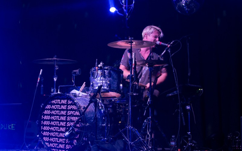 Drummer, Lachlan West, of Australian band, The Griswolds, co-headlining the Hotline Spring tour with Magic Man. (Cassie Osvatics/Bloc Reporter)