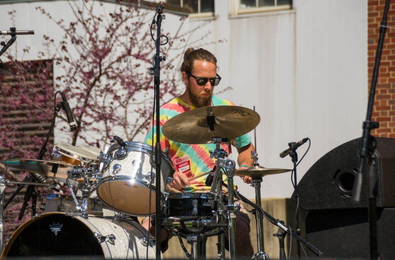 Box Era drummer Mitch Faulkner performs at Terpstock 2016 (Gabe Fernandez/Bloc Reporter)