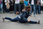 Members of Urban Artistry break dance during the D.C. Funk Parade. (Cassie Osvatics/Bloc Reporter)