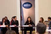 Regina Ledesma speaks at the White House Initiative on Asian Americans and Pacific Islanders