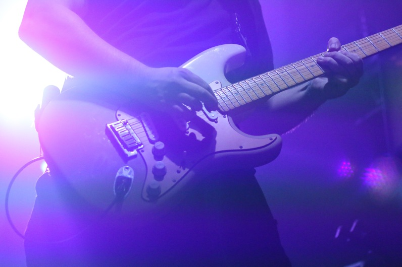 Touring guitarist for Cherub performing at the 9:30 club. (Casey Tomchek/Freelance Photographer)