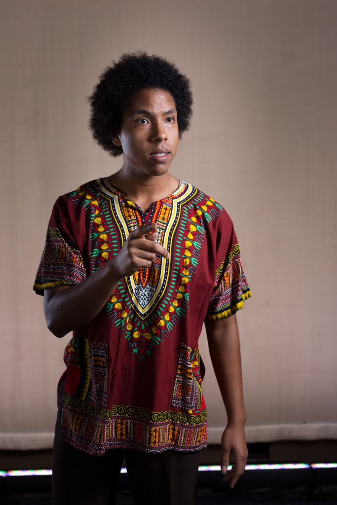 Picture of Jamaal Amir McCray, an actor in the show. Taken by Geoff Sheil.