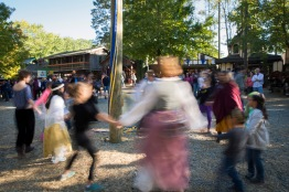 Participants dance around a 'May Pole' at the 40th annual Maryland Rennaisance Festival. (Josh Loock/Bloc Photographer)