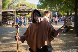 Mark Kraemer wears his 'Plague Docor' outfit at the 40th annual Maryland Rennaisance Festival. (Josh Loock/Bloc Photographer)