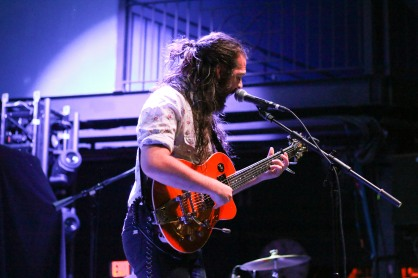 Kenny Stiegele, singer and guitarist of The Worn Flints, performs at the 9:30 Club on Saturday Oct. 22. (Casey Tomchek/ Freelance Photographer)