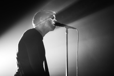 Lead singer of Catfish and the Bottlemen, Van McCann, sings to the crowd during a performance at the 9:30 Club on Saturday Oct. 22. (Casey Tomchek/ Freelance Photographer)