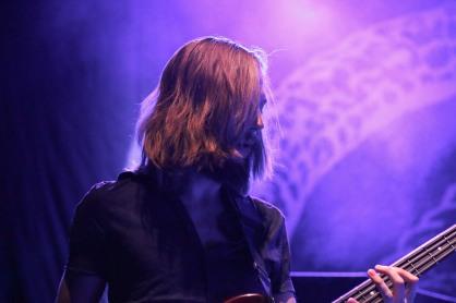 Steve Trabulsi, bassist of The Worn Flints, performs at the 9:30 Club. (Casey Tomchek/Freelance photographer)