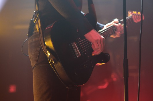 Lead singer Vann McCann plays the guitar while performing at the 9:30 Club. (Casey Tomchek/ Freelance Photographer)